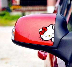 Adesivo para Retrovisor de Carro Hello Kitty