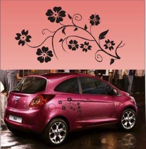 Adesivo Floral para Carro